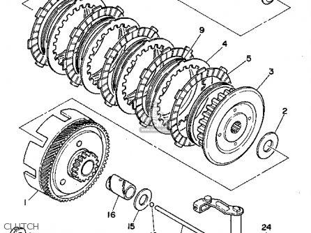 Yamaha Rt100 1995 (s) Usa parts list partsmanual partsfiche