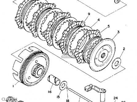 Yamaha Rt100e 1993 parts list partsmanual partsfiche