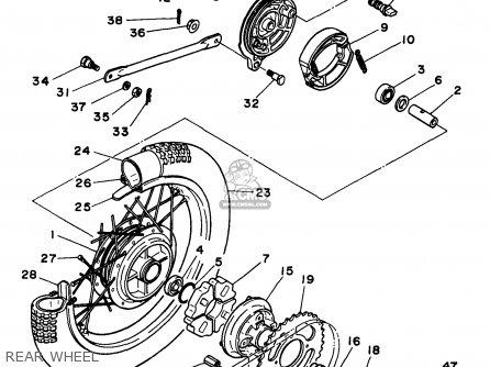 Yamaha Rt100j 1997 parts list partsmanual partsfiche