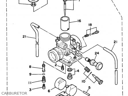Yamaha Rt180 1990 (l) Usa parts list partsmanual partsfiche