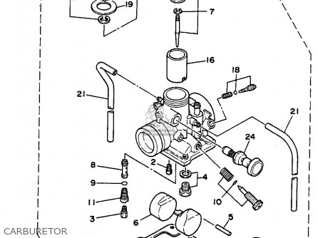 Yamaha Rt180 1991 (m) Usa parts list partsmanual partsfiche
