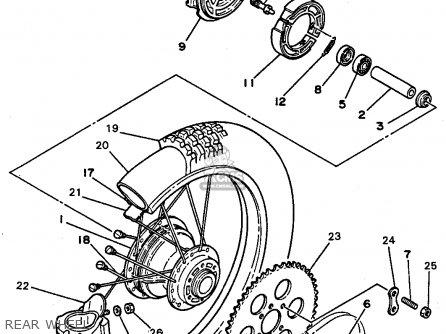 Yamaha Rt180a 1990 parts list partsmanual partsfiche
