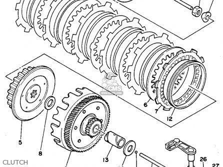 Yamaha Rt180b 1991 parts list partsmanual partsfiche