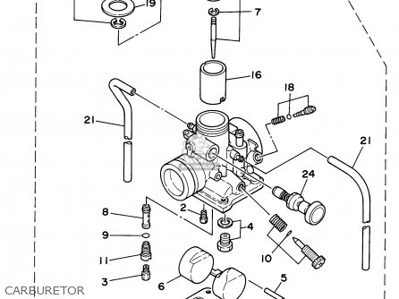 Yamaha Rt180d 1992 parts list partsmanual partsfiche