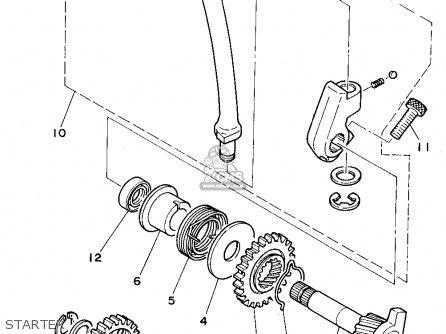 Yamaha Rt180e 1993 parts list partsmanual partsfiche