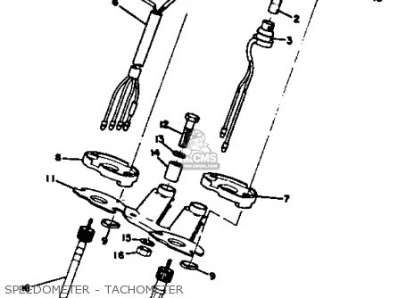 Yamaha Rt2 1972 Usa parts list partsmanual partsfiche