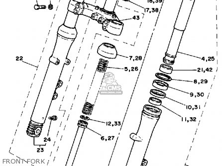 Yamaha RZ350 1984 (E) USA parts lists and schematics