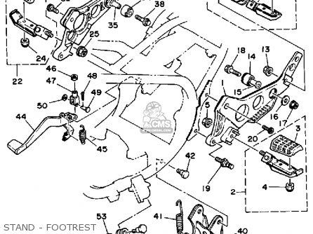 Yamaha Rz350 1984 (e) Usa parts list partsmanual partsfiche