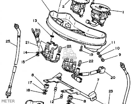 Yamaha Rz350 1985 (f) Usa parts list partsmanual partsfiche