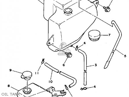 Yamaha Rz350 1985 (f) Usa parts list partsmanual partsfiche