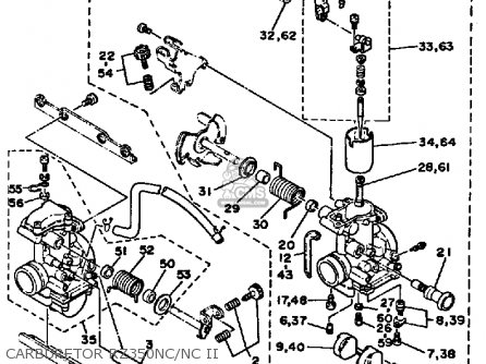 Yamaha Rz350c 1985 (f) California parts list partsmanual