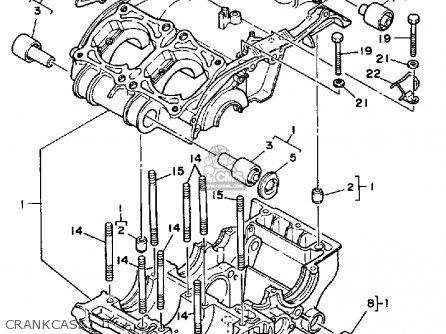Yamaha RZ350C 1985 (F) CALIFORNIA parts lists and schematics