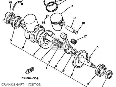 Yamaha RZ350CII 1985 (F) CALIFORNIA parts lists and schematics