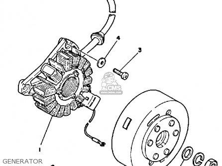 Yamaha Rz350cii 1985 (f) California parts list partsmanual