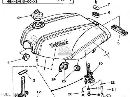 Yamaha Rz350l 1984 parts list partsmanual partsfiche