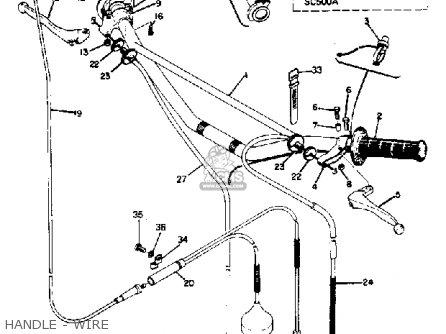 Yamaha Sc500 1973 Usa parts list partsmanual partsfiche