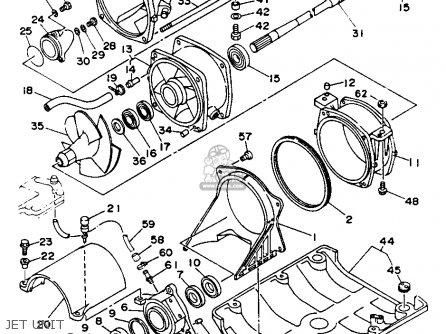 Yamaha Sj650r 1993 parts list partsmanual partsfiche