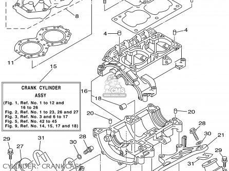 Yamaha SJ700AZ SUPERJET GM6K 2001 USA parts lists and