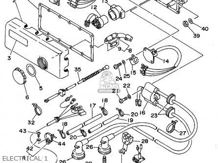 Yamaha Sj700s 1994 parts list partsmanual partsfiche