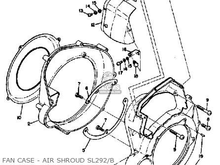 Yamaha SL292 1971-1973 parts lists and schematics