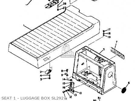 Yamaha Sl292 1971-1973 parts list partsmanual partsfiche