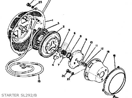 Yamaha SL292 1971-1973 parts lists and schematics