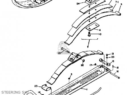Yamaha SL351 1968 parts lists and schematics