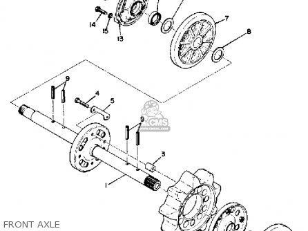 Yamaha Sl433b 1973 parts list partsmanual partsfiche