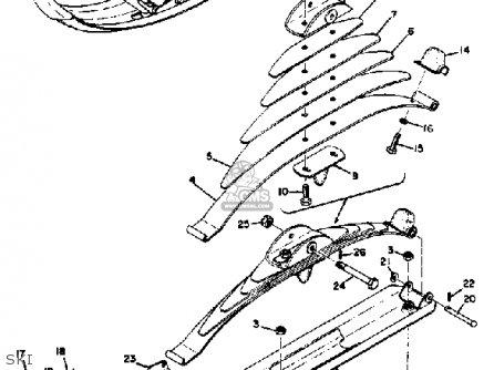Yamaha Sl433f 1974 parts list partsmanual partsfiche
