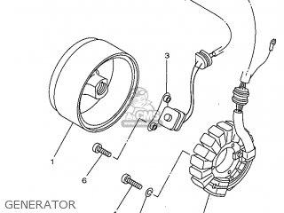 Yamaha SR125 1998 3MW7 ENGLAND 283MW-300E1 parts lists and