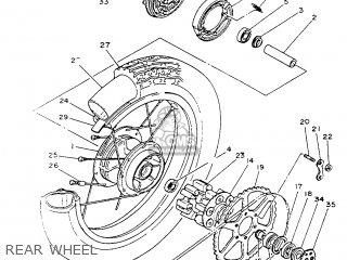 Yamaha SR125SP 1988 2JW SPAIN 282JW-352S1 parts lists and