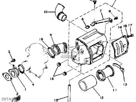 Yamaha Sr250 1980 Exciter1 Usa parts list partsmanual