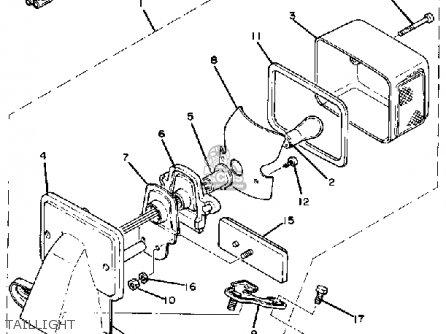 Yamaha SR250 1980 EXCITER1 USA parts lists and schematics