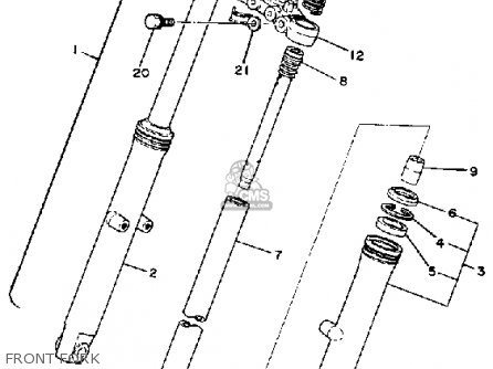 Yamaha Sr250t 1981 Exciter1 Usa parts list partsmanual
