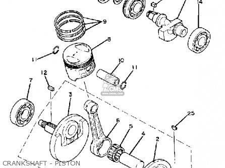 Yamaha Sr250th 1981 parts list partsmanual partsfiche