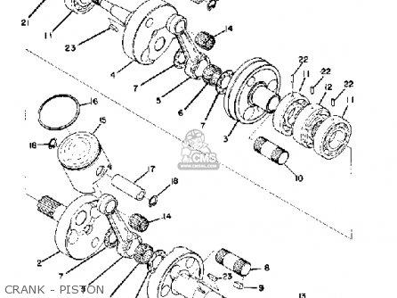 Yamaha Sr433c 1973 parts list partsmanual partsfiche