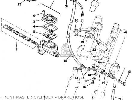 Yamaha Sr500 1978 Usa parts list partsmanual partsfiche