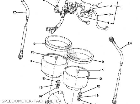Yamaha Sr500 1979 Usa Canada parts list partsmanual partsfiche