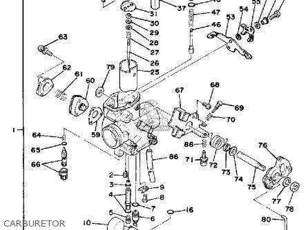 Yamaha Sr500f 1979 parts list partsmanual partsfiche