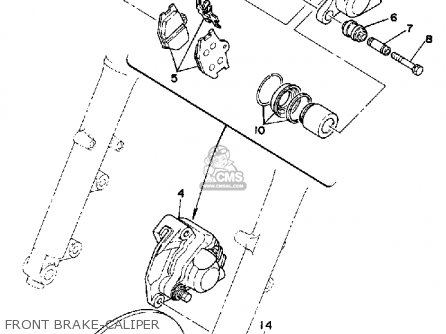 Yamaha Sr500h 1981 parts list partsmanual partsfiche