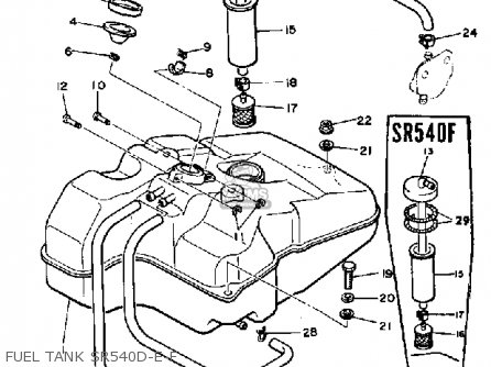 Yamaha SR540D 1980 parts lists and schematics