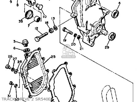 Yamaha Sr540f 1982 parts list partsmanual partsfiche