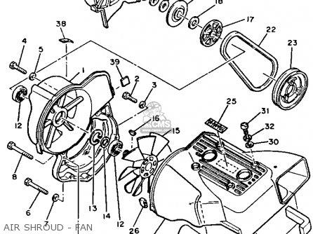 Yamaha SR540H 1984 parts lists and schematics