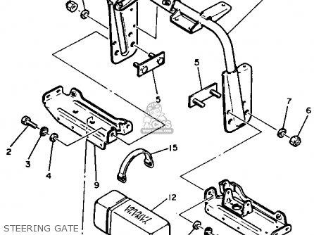 Yamaha Sr540h 1984 parts list partsmanual partsfiche