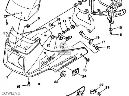 Yamaha Srx250t 1987 parts list partsmanual partsfiche