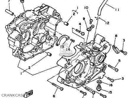 Yamaha Srx250tc 1987 parts list partsmanual partsfiche