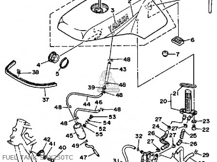Yamaha SRX250TC 1987 parts lists and schematics