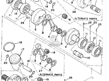 Yamaha SRX440C 1979 parts lists and schematics