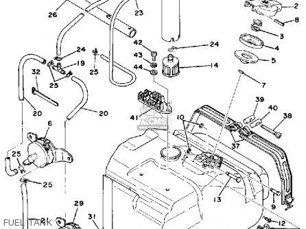 Yamaha Srx440c 1979 parts list partsmanual partsfiche