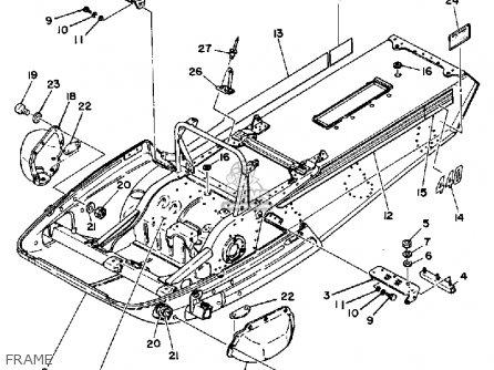 Yamaha Srx440d 1980 parts list partsmanual partsfiche